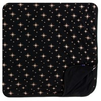 KICKEE PANTS HOLIDAY TODDLER BLANKET IN ROSE GOLD BRIGHT STARS