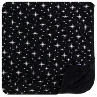 KICKEE PANTS HOLIDAY TODDLER BLANKET IN SILVER BRIGHT STARS