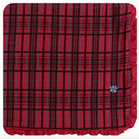 KICKEE PANTS HOLIDAY RUFFLE TODDLER BLANKET IN CHRISTMAS PLAID