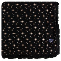 KICKEE PANTS HOLIDAY RUFFLE TODDLER BLANKET IN ROSE GOLD BRIGHT STARS