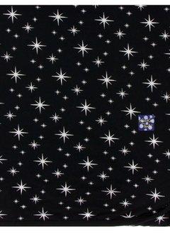 KICKEE PANTS HOLIDAY SWADDLING BLANKET IN SILVER BRIGHT STARS