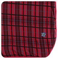 KICKEE PANTS HOLIDAY SWADDLING BLANKET IN CHRISTMAS PLAID