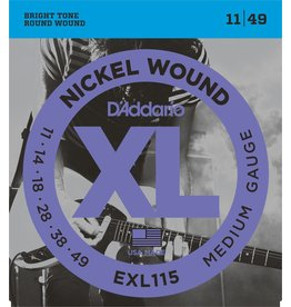 D'Addario - XL Nickel Wound, 11-49 Jazz/Rock