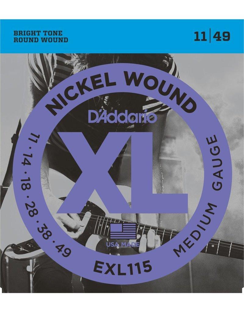 D'Addario - XL Nickel Wound, 11-49 Jazz/Rock