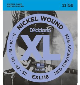 D'Addario - XL Nickel Wound, 11-52 Medium Top/Heavy Bottom