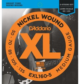 D'Addario - XL 5 String Bass, 50-135 Long Scale