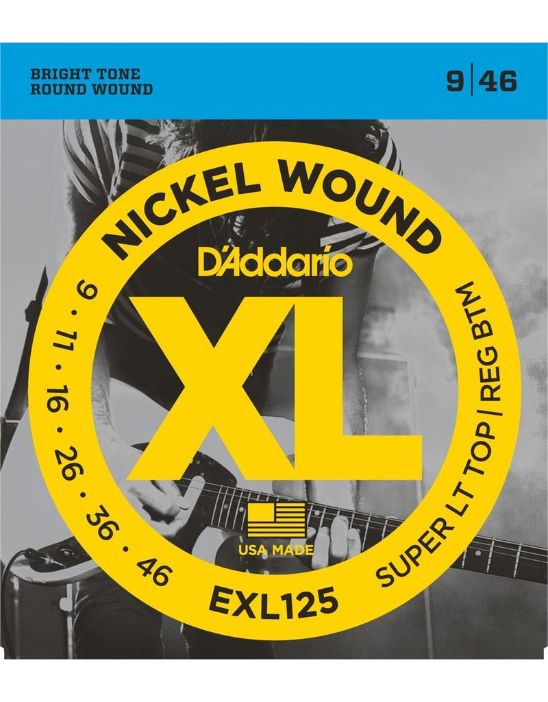 D'Addario - XL Nickel Wound, 9-46 Super Light-Regular Bottom