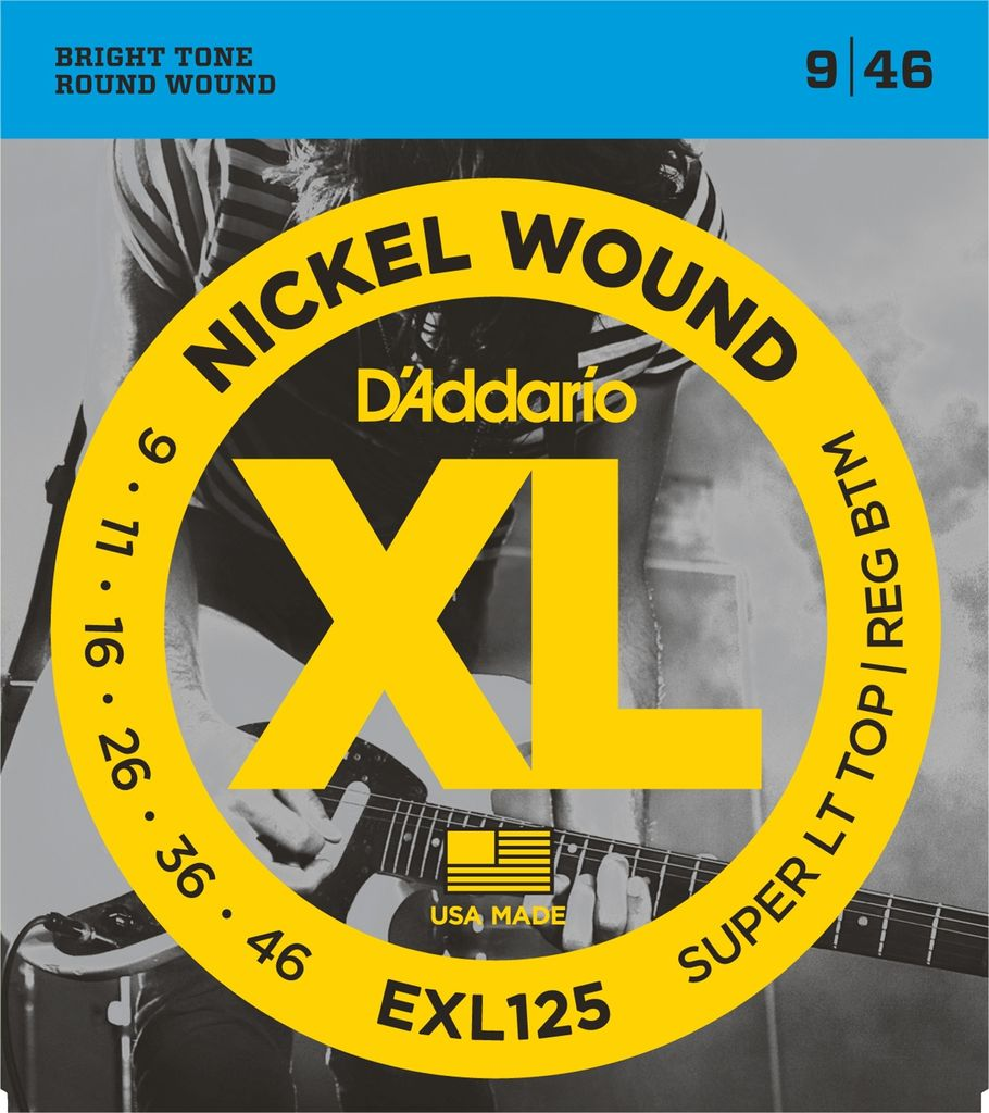 D'Addario - XL Nickel Wound, 9-46 Super Light-Regular Bottom