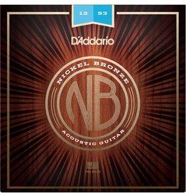 D'Addario - Nickel Bronze Acoustic Strings, 12-53 Light