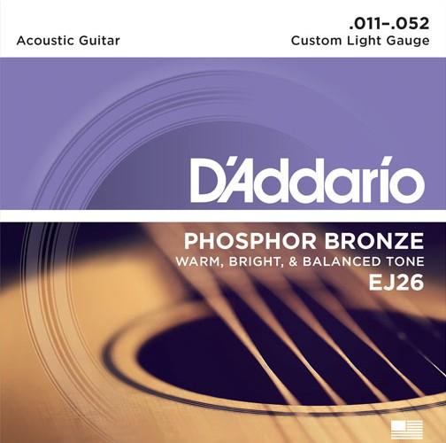 D'Addario - Phosphor Bronze, 11-52 Custom Light