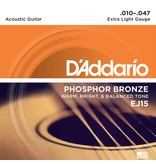 D'Addario - Phosphor Bronze, 10-47 Extra Light