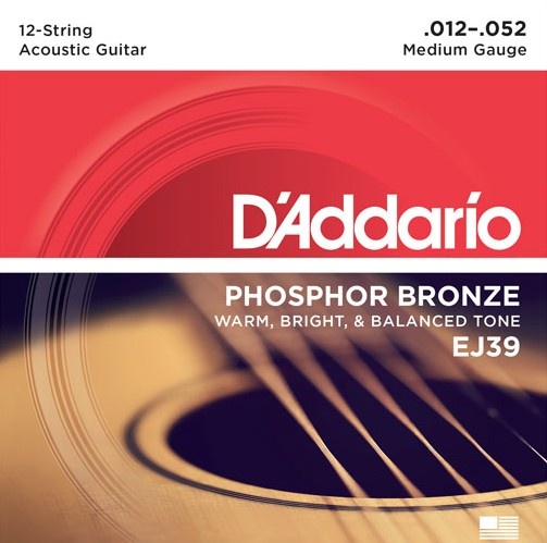 D'Addario - Phosphor Bronze 12 String, 12-52
