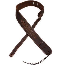 Martin - Leather Wingtip Strap, Dark Brown
