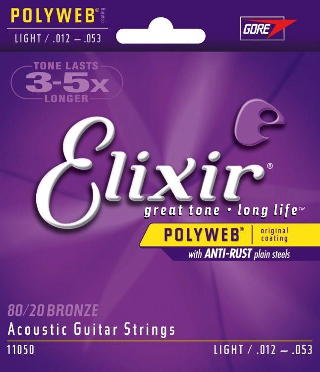 Elixir - 80/20 Bronze (Polyweb) Coated Acoustic, 12-53 Light