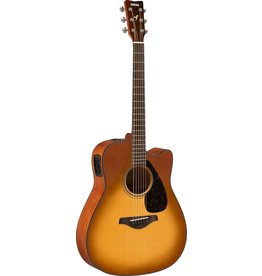 Yamaha - FGX800C Acoustic/Electric, Solid Top, Sand Burst