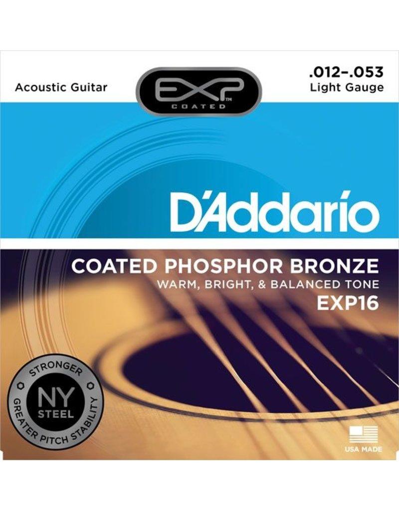 D'Addario - EXP16 Coated Phospher Bronze Acoustic Strings, Light