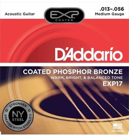 D'Addario - EXP17 Coated Phospher Bronze Acoustic Strings, Medium