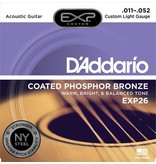 D'Addario - EXP26 Coated Phospher Bronze Acoustic Strings, Custom Light
