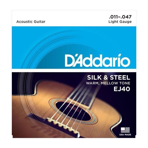 D'Addario - EJ40 Silk and Steel Folk, 11-47 Silver Wound