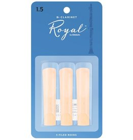 Rico - 3 Pack of Bb Clarinet Reeds, 1.5