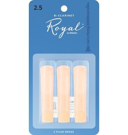 Rico - 3 Pack of Bb Clarinet Reeds, 2.5