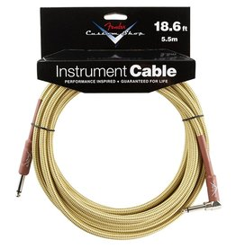 Fender - Custom Shop 18.6' RA Instrument Cable, Tweed