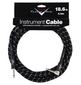 Fender - Custom Shop 18.6' RA Instrument Cable, Black Tweed