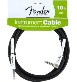 Fender - 10' RA Instrument Cable, Black