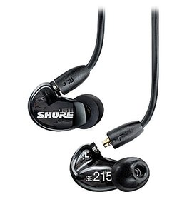 Shure - SE215K Single Driver Sound Isolating Earphones, Black