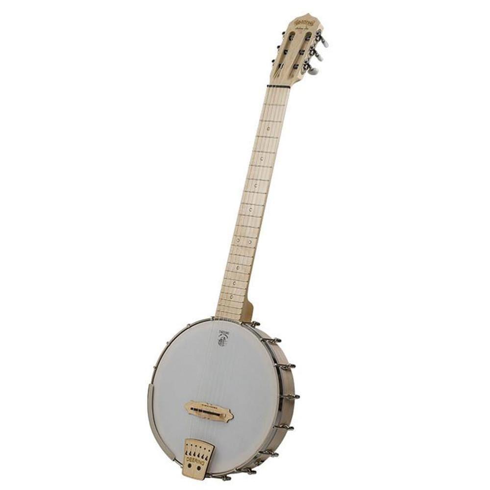 Deering - Goodtime Solano 6 String Openback Banjo, Blonde