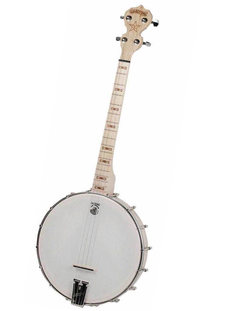 Deering - Goodtime 4-String, 17 Fret Tenor, Openback Banjo, Blonde