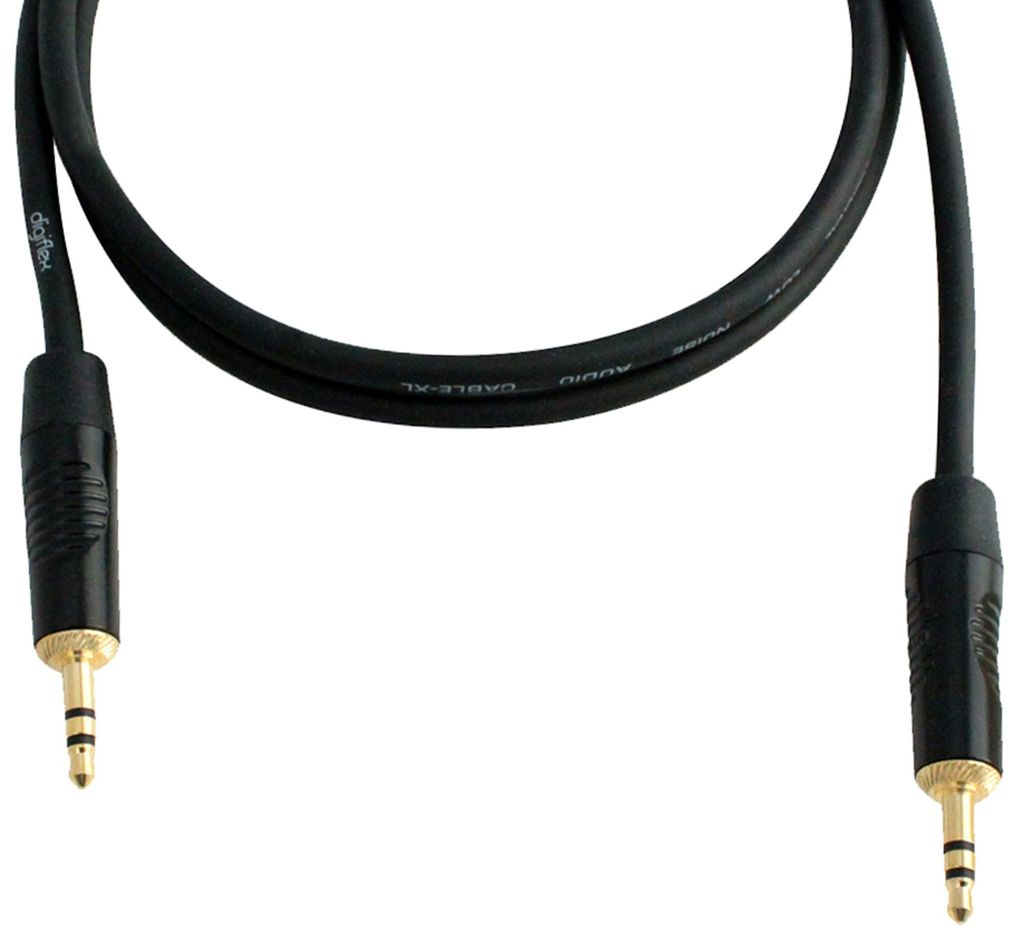 Digiflex - 1/8 TRS to 1/8 TRS Mini Plugs Cable, 10'
