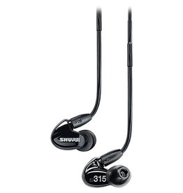 Shure - SE315 Single Driver Sound Isolating Earphones, Black
