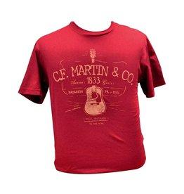Martin - CFM D28 Logo T-Shirt, Red (XL)