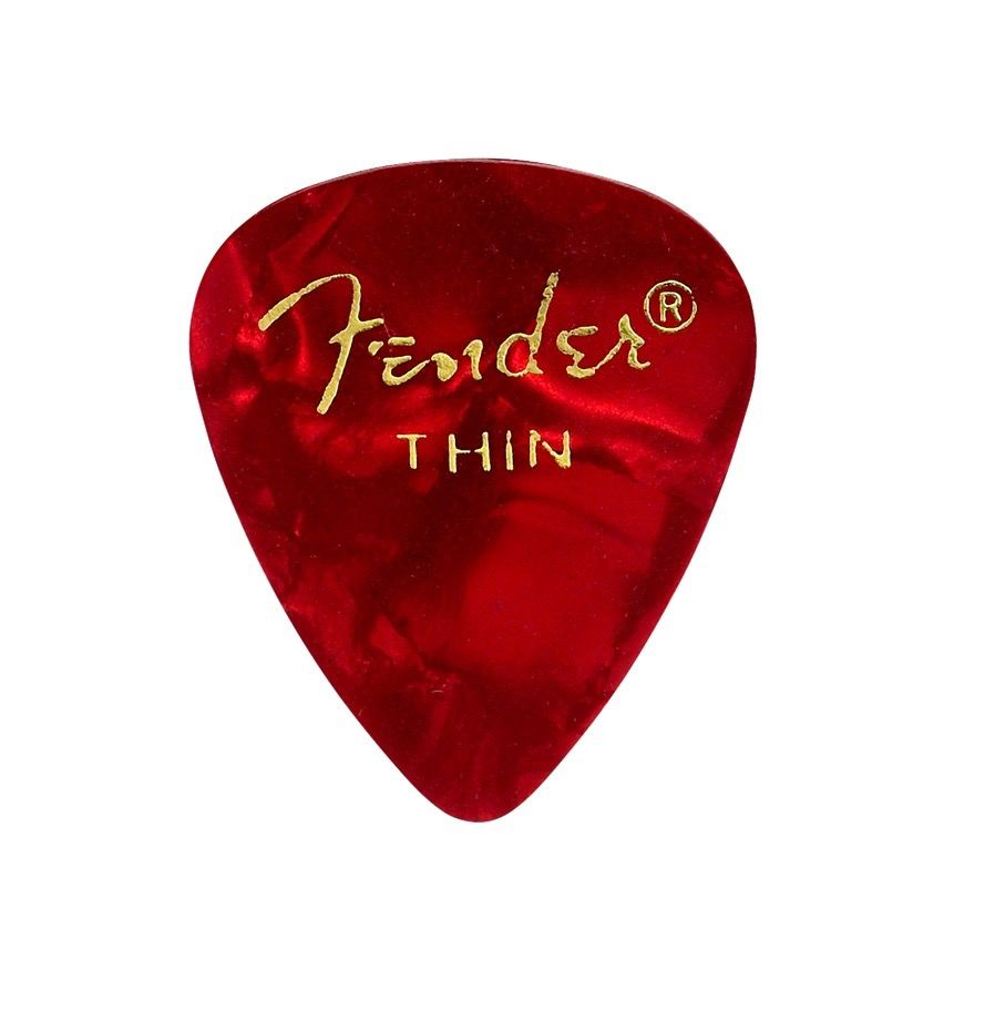 Fender - 351 Celluloid, Red, Thin, 12 Pack