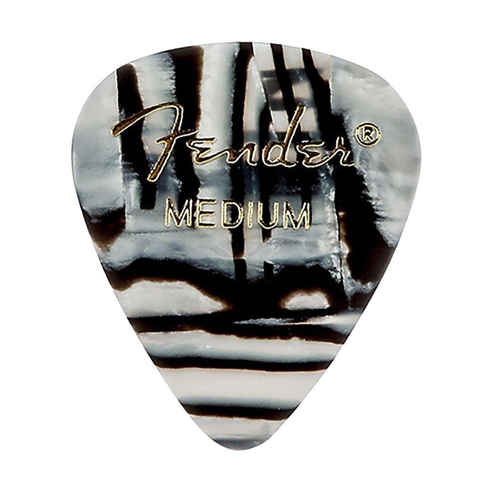Fender - 351 Graphic Picks, Zebra, Medium, 12 Pack