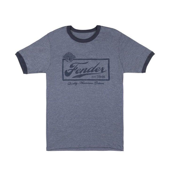 Fender - Blue Beer Label T-Shirt, L