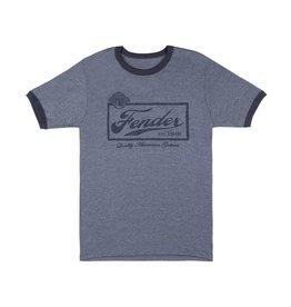 Fender - Blue Beer Label T-Shirt, XL
