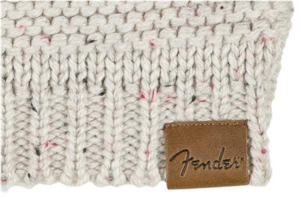 Fender - Leather Patch Pom Pom Beanie, Tan