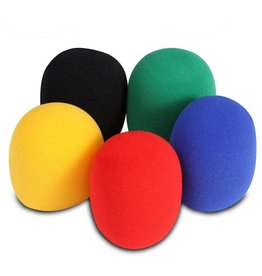 On-Stage - Microphone Windscreen, 5 Pack of Assorted Colors