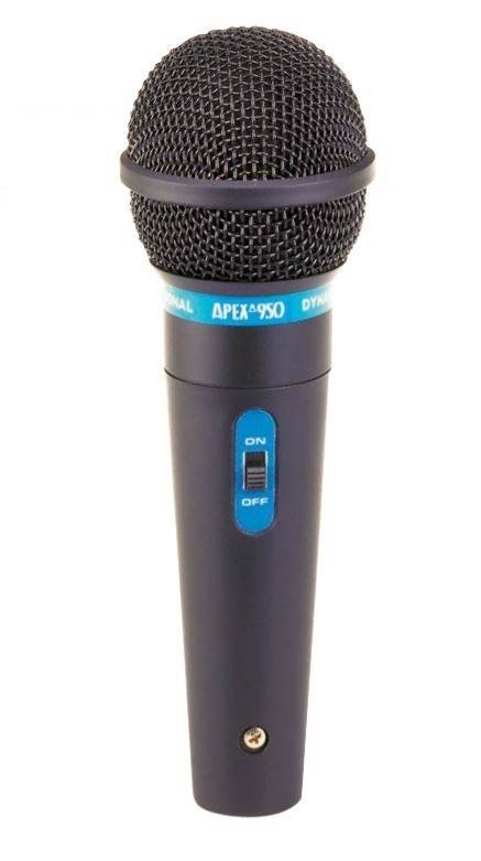 "Apex - APEX950 Microphone w/ 1/4"" Cable"
