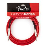 Fender - 15' California Series Instrument Cable, Candy Apple Red