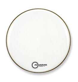 "Aquarian - Force II Gloss White Bass Drumhead, 18"""