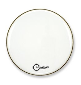 "Aquarian - Force II Gloss White Bass Drumhead, 22"""