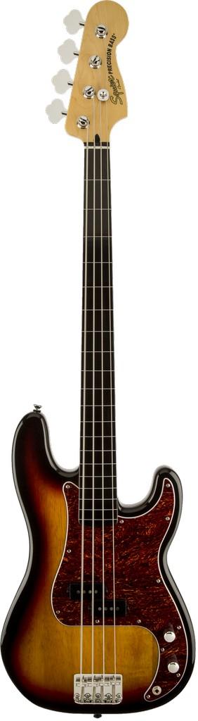 Squier - Vintage Modified Precision Bass Fretless, 3-Color Sunburst