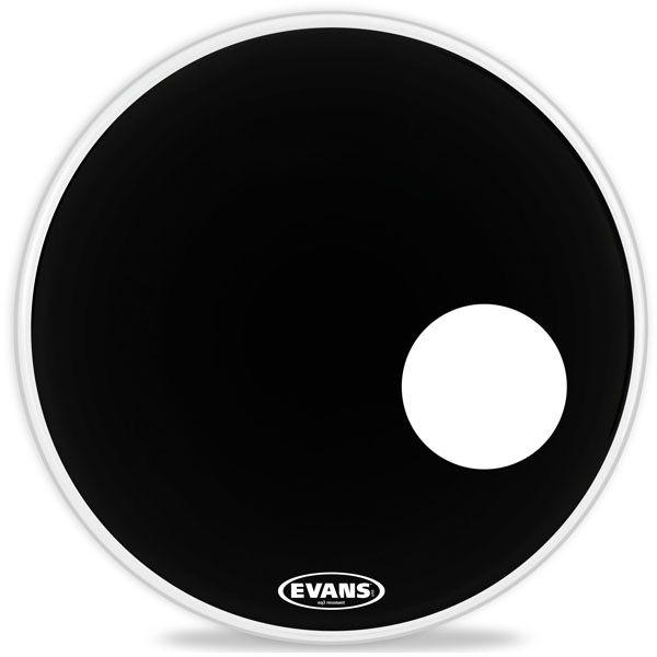 "Evans - Black EQ3 Resonant, 22"""