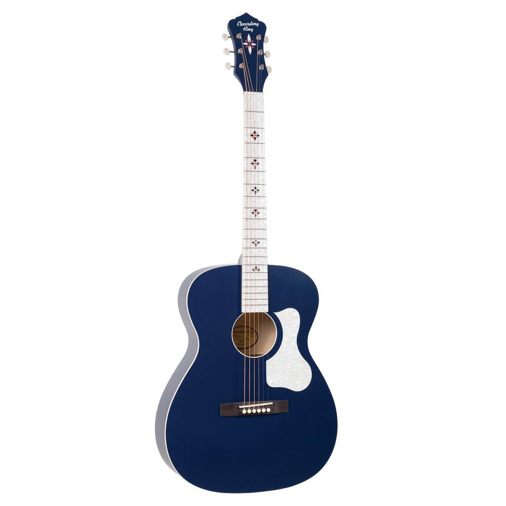 Recording King - ROC-9-MBL Century33 Ltd Edition Guitar, Wabash Blue