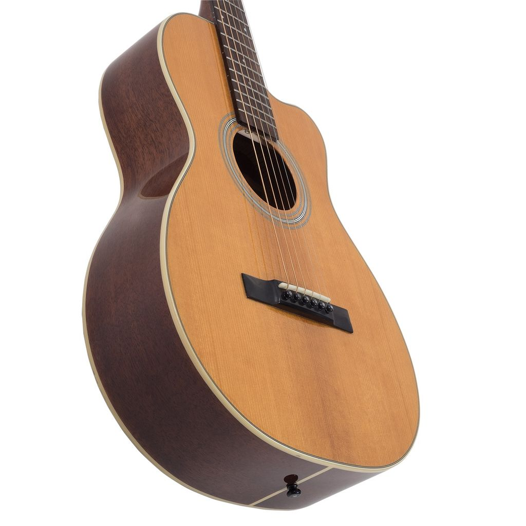 Recording King - RP1-16C Schoenberg Torrefied Adirondack Spruce Top Guitar, 0 Body Cutaway