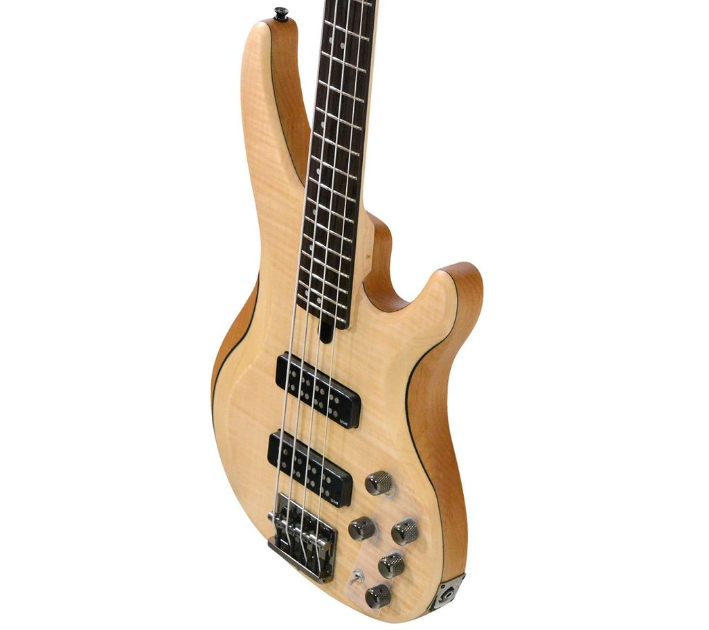 Yamaha - TRBX 604, 4 String Bass, Natural Satin, Flame Maple Top