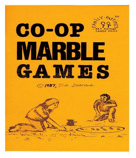 Family Pastimes Marble Games book with 3 beautiful large marbles